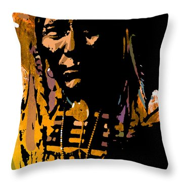 Proud Chief Throw Pillow