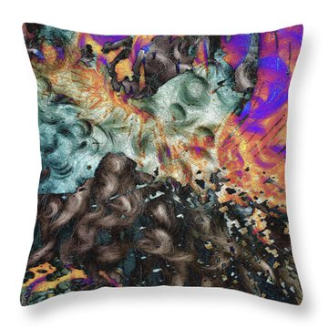 Psychedelic Fur Throw Pillow