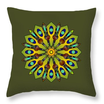 Psychedelic Mandala 004 A Throw Pillow