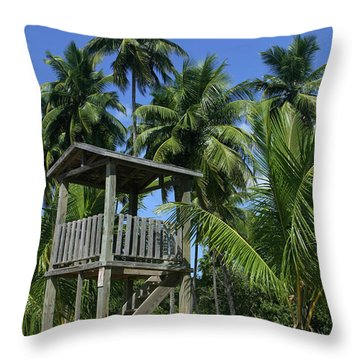 Puerto Rico Palms Throw Pillow by Madeline Ellis