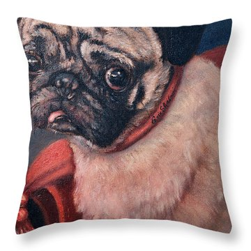 Pugsy Throw Pillow
