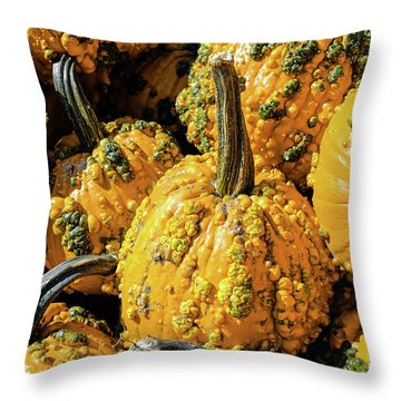 Pumpkins With Warts Throw Pillow