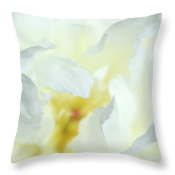 Pure Peony Throw Pillow