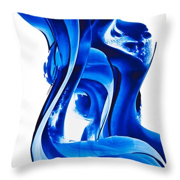 Throw Pillow featuring the painting Pure Water 66 by Sharon Cummings