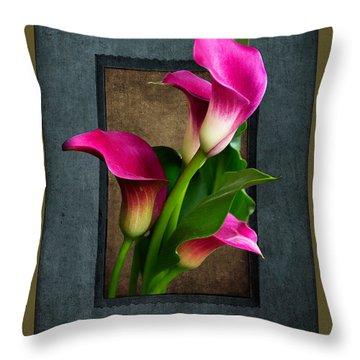 Purple Calla Lily Throw Pillow