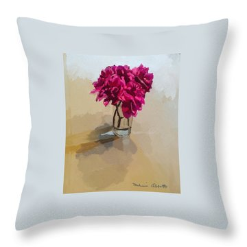 Purple Dahlias Throw Pillow