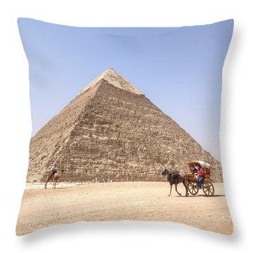 Pyramid Of Khafre - Egypt Throw Pillow