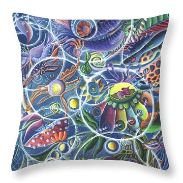 Quantum Entanglement Throw Pillow by Vera Tour