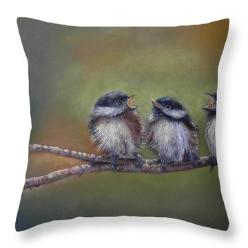 Quarelling Throw Pillow