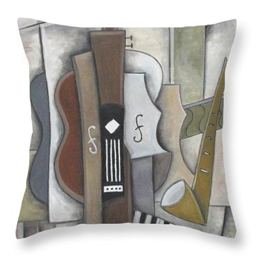 Quartet Throw Pillow by Trish Toro