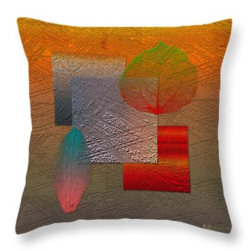 Quiet Sunset At The End Of Northern Summer  Throw Pillow