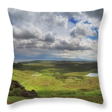 Quiraing And Trotternish - Panorama Throw Pillow