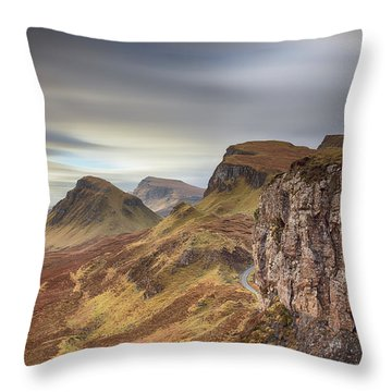 Throw Pillow featuring the photograph Quiraing - Isle Of Skye by Grant Glendinning