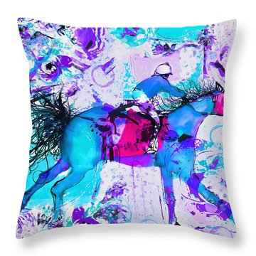 Racing Colors Throw Pillow