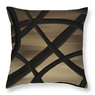 Throw Pillow featuring the painting Raices  by Edwin Alverio