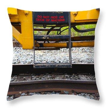 Railroad Equipment Throw Pillow