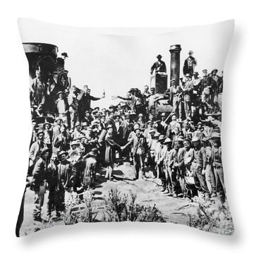 Railroading Throw Pillow by Granger