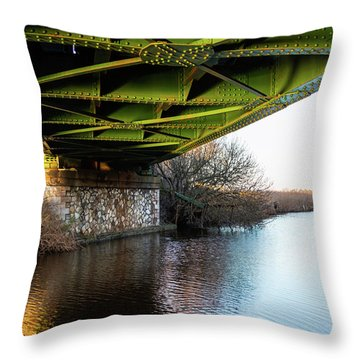 Railway Bridge Throw Pillow