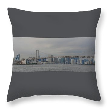 Rainbow Bridge Throw Pillow by Megan Martens