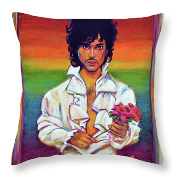 Rainbow Child Throw Pillow