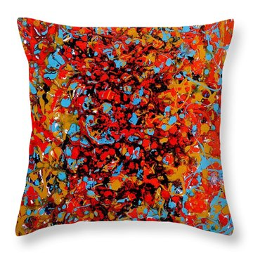 Raindance 1 Throw Pillow by Irene Hurdle
