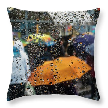 Raining Throw Pillow