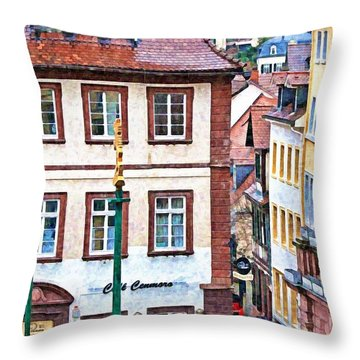 Rainy Day In Heidelberg Throw Pillow