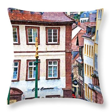 Rainy Day In Heidelberg Throw Pillow