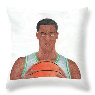 Rajon Rondo Throw Pillow by Toni Jaso