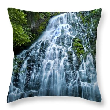 Ramona Falls Cascade Throw Pillow