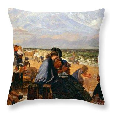 Ramsgate Sands Throw Pillow