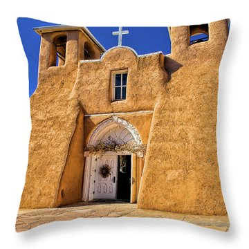 Ranchos De Taos Church  Throw Pillow