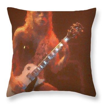 Randy Rhoads Painting Throw Pillow
