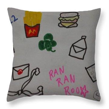 Ranranroo Throw Pillow