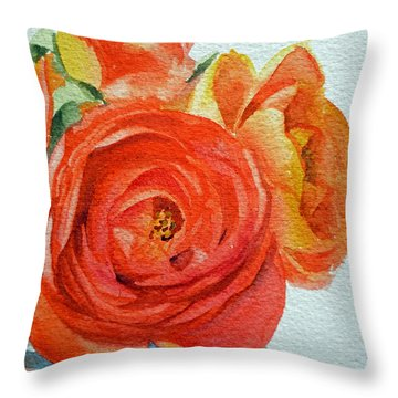 With Roses Throw Pillows