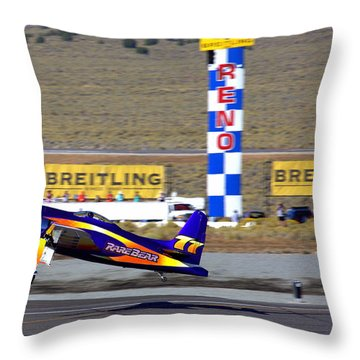 Rare Bear Take-off Sunday's Unlimited Gold Race Throw Pillow