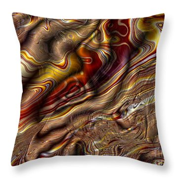 Throw Pillow featuring the digital art Rare Silk by Richard Ortolano