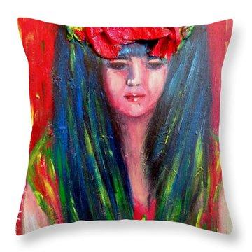 Rasta Girl Throw Pillow