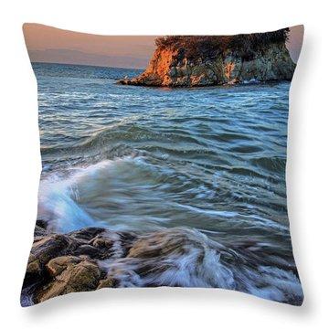 Rat Rock Island  Throw Pillow