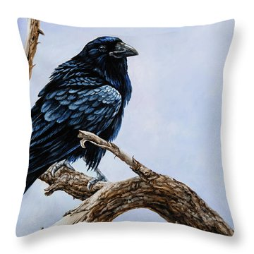 Raven Throw Pillow