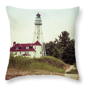 Throw Pillow featuring the photograph Rawley Point Lighthouse by Joel Witmeyer