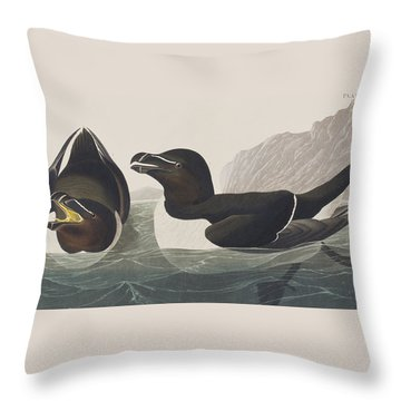 Razor Bill Throw Pillow