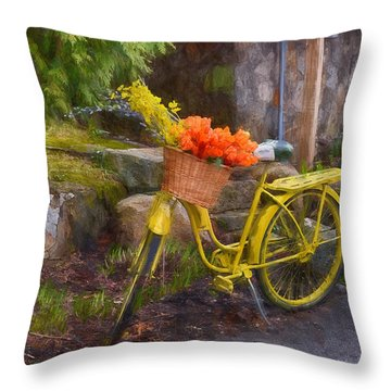 Ready To Go Throw Pillow by Tricia Marchlik