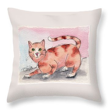 Ready To Play Throw Pillow by Terry Taylor
