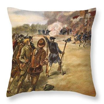 Rebels: Arsenal, 1787 Throw Pillow by Granger