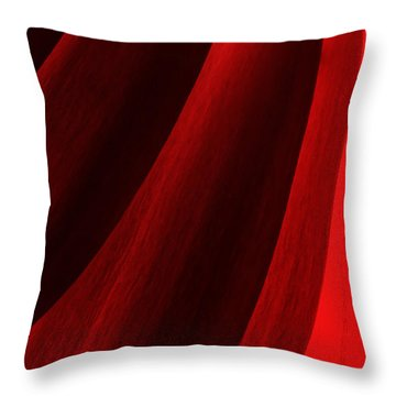Red Chrysanthemum Dawn Rising Throw Pillow