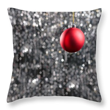 Throw Pillow featuring the photograph Red Christmas by Ulrich Schade