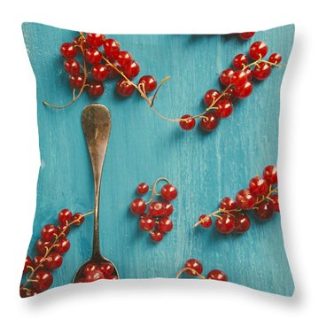 Red Currant Throw Pillow