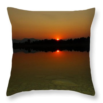 Red Dawn Throw Pillow by Eric Dee