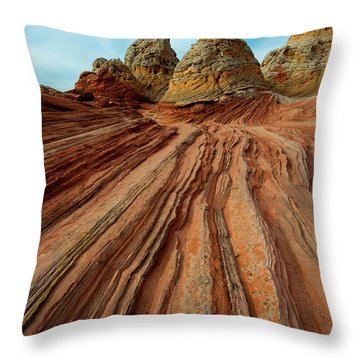 Throw Pillow featuring the photograph Red Desert Lines by Mike Dawson
